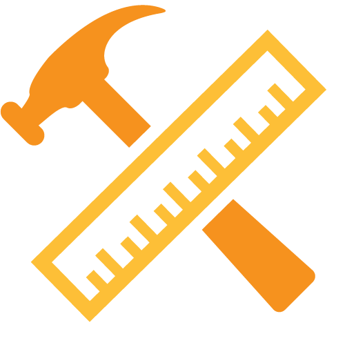 A First Fence differentiator is their outstanding craftmanship. Illustrated hammer and ruler icon.