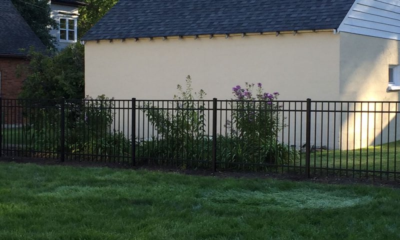 Photo of yard after First Fence installed a fence