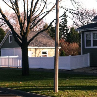 Photo of the custom fence we installed for the Heywood family