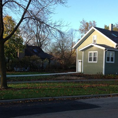 Photo of Heywood property before First Fence installed a fence