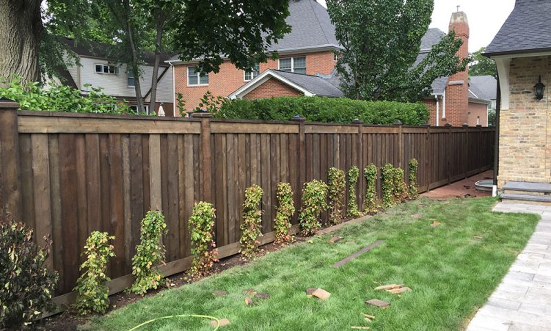 Photo of yard on Orchard Ave before First Fence installed a fence