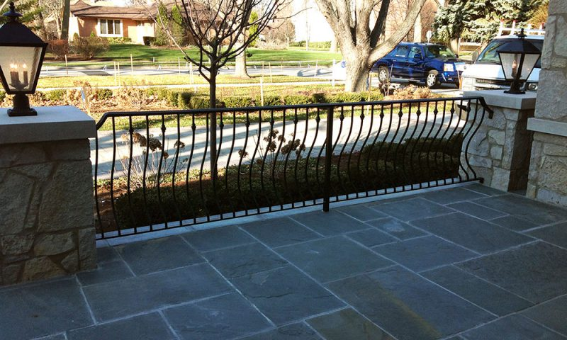 A photo of the custom fence installed by First Fence
