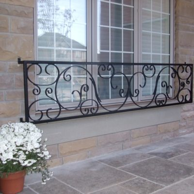Photo of a custom iron railing.