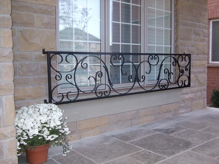Photo of a custom iron railing.