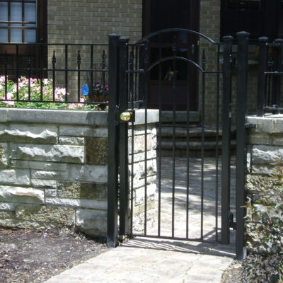 Photo of a powder coated iron entry gate