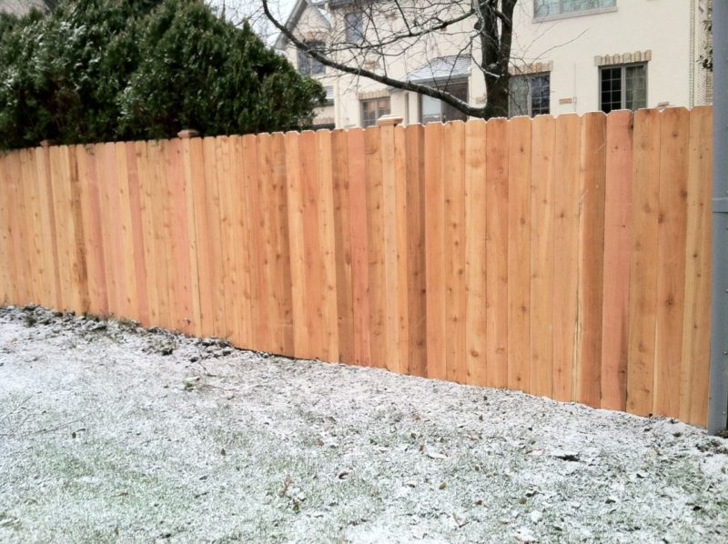 Photo of a Solid board fence with dog ear