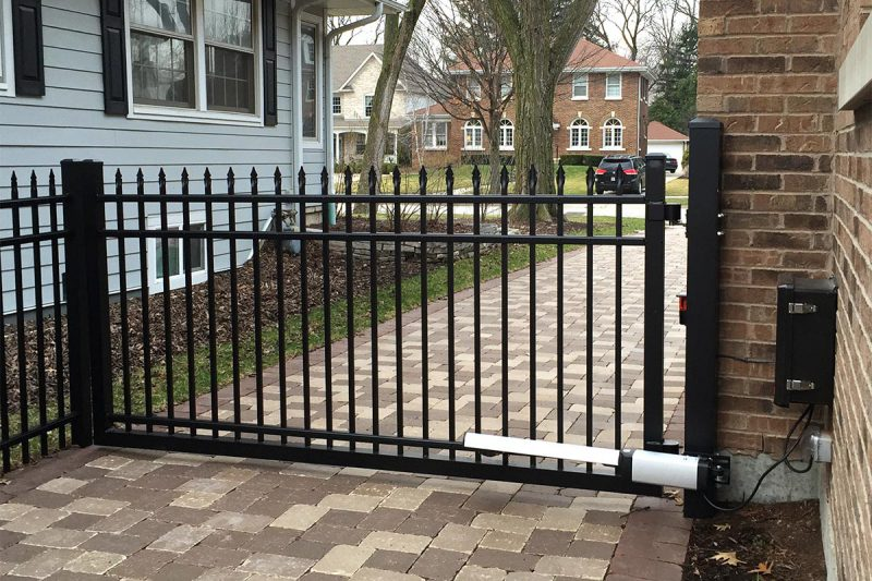 Photo of a fence with access control installed by First Fence