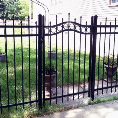 Photo of a custom aluminum fence installed by First Fence
