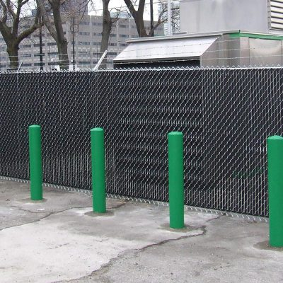 Photo of a custom commercial chain link fence installed by First Fence Company in Hillside, IL