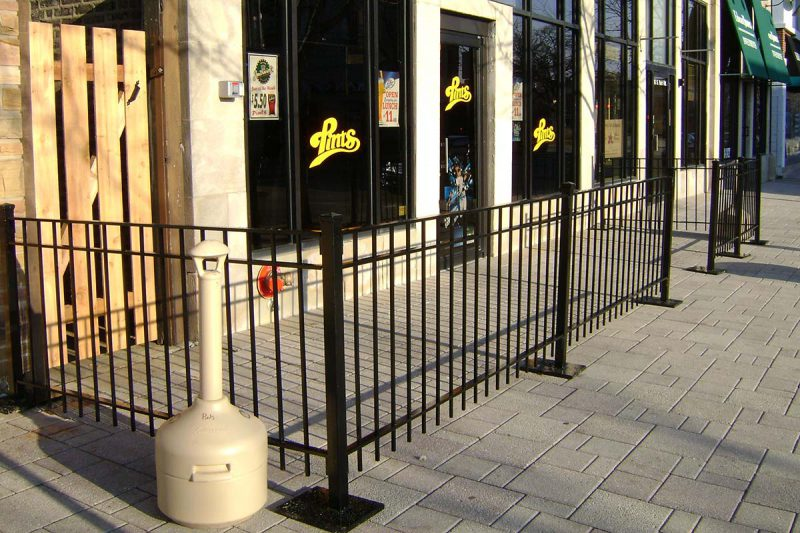 Photo of a removable custom powder coated iron railing system - First Fence