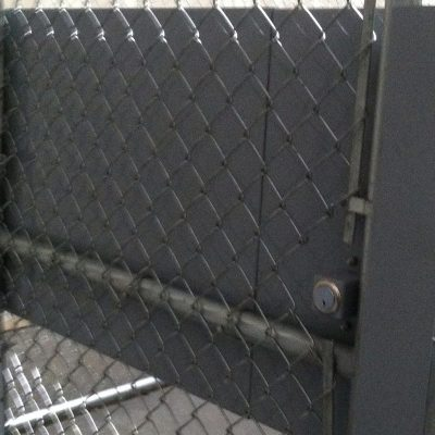 Photo of a custom panic bar installed by First Fence
