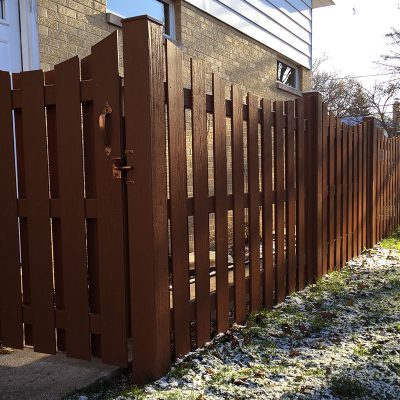 Photo of an Endwood fence installed by First Fence company