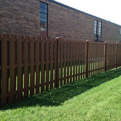 Photo of a custom Endwood fence installed by First Fence Company