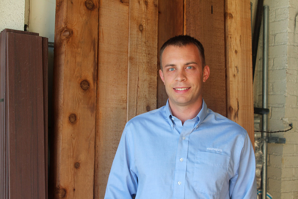 Photo of First Fence employee Eric Andersen