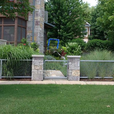 Photo of custom iron fence to compliement a modern house- First Fence