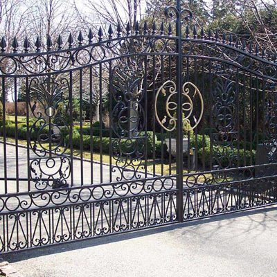 Photo of an ornate iron gate - First Fence