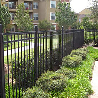 Photo of ornamental steel fence installed by First Fence Company in Hillside, IL
