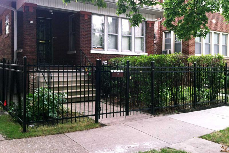 Photo of a custom ornamental steel fence installed by First Fence