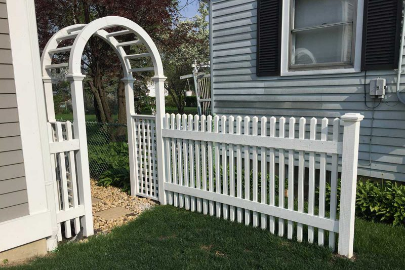 Photos of custom arbor intalled by First Fence