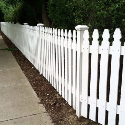 Photo of a pre-stained fence installed by First Fence