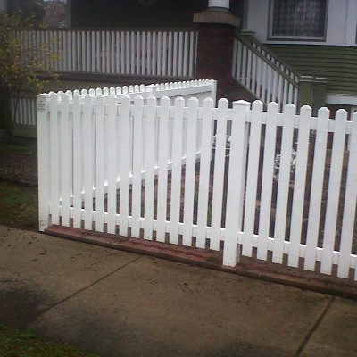Photo of a residential fence repair done by First Fence Company