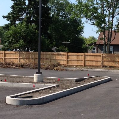 Photo of a custom restaurant fence installed by First Fence