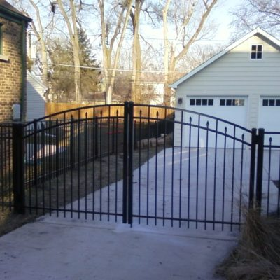Aluminum residential single arched gate
