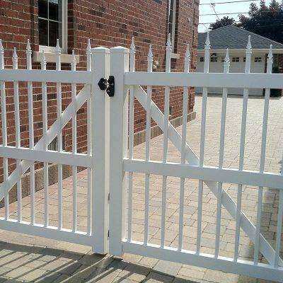 Photo of custom Vinyl/PVC fence installed by First Fence Company in Hillside, IL