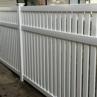 Photo of a Havana semi-private vinyl fence installed by First Fence Company in Hillside, IL