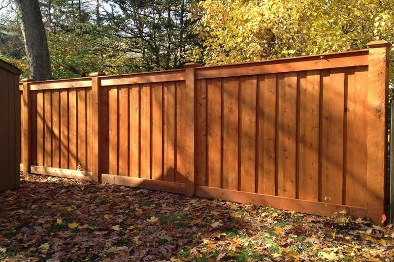 Photo Of A Wood Fence Installed By First Company In Hillside