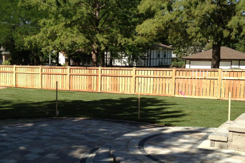 Photo of a wood fence installed by First Fence Company in Hillside, IL
