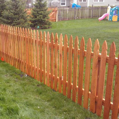 Photo of a custom fence installed by First Fence Company in Hillside, IL
