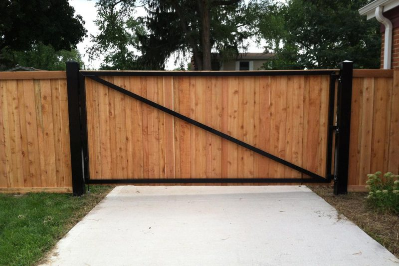 impressive wooden gate and frame storage