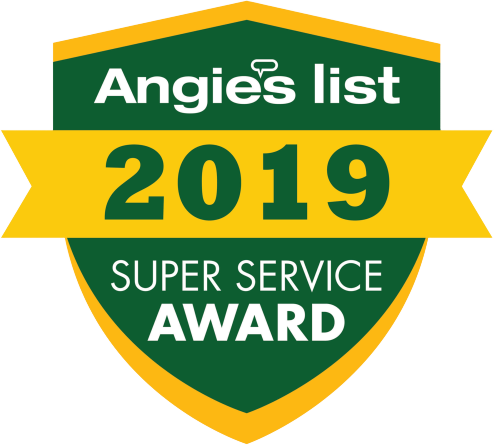 Angie's List 2019 Super Service Award badge