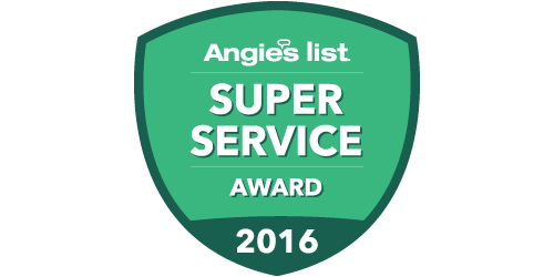 Anglie's List Super Service Award 2016 illustrated badge