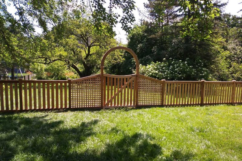 Photo of a custom designed gate
