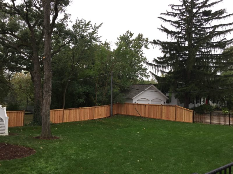 Photo of a wood fence installed by First Fence Company